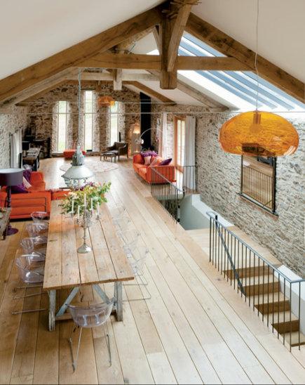 Grenen vloeren voor woonkamer of slaapkamer